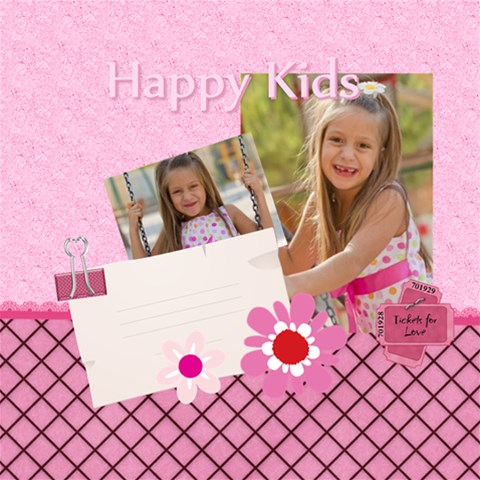 Happy Kids By Jo Jo   Scrapbook Page 12  X 12    Lbxf9ncegf3y   Www Artscow Com 12 x12 Scrapbook Page - 1