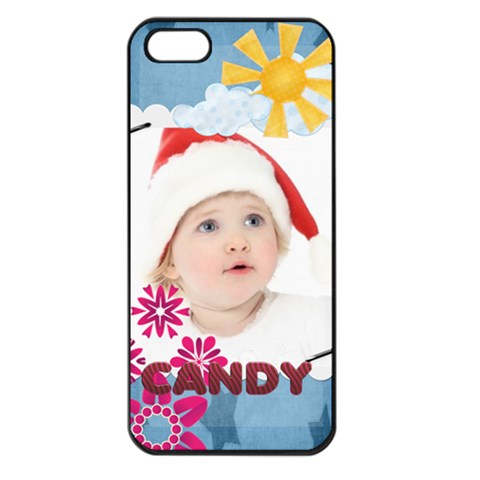 Kids , Flower , Happy, Fun By Jo Jo   Apple Iphone 5 Seamless Case (black)   Vcz17y6qk8lg   Www Artscow Com Front