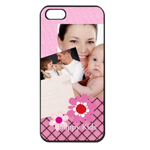 Happy Kids By Jo Jo   Apple Iphone 5 Seamless Case (black)   Mgqxfy1h741t   Www Artscow Com Front