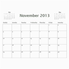 Wall Calender 2013 By Tsang Yi Ling   Wall Calendar 11  X 8 5  (18 Months)   Xliihn4a0kaw   Www Artscow Com Nov 2013