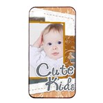 kids, fun, child, play, happy - Apple iPhone 4/4s Seamless Case (Black)
