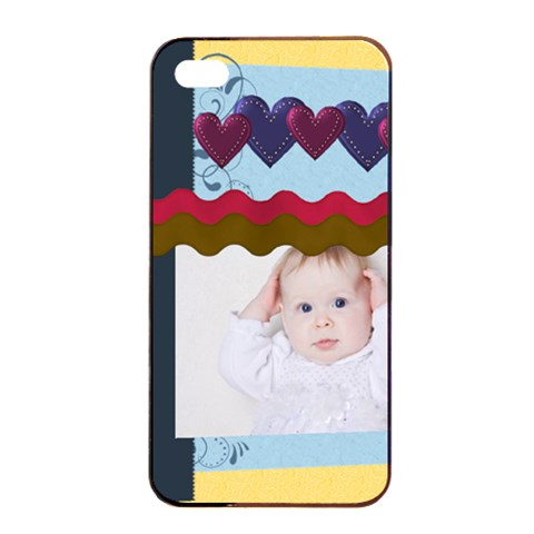 Kids Playing By Betty   Apple Iphone 4/4s Seamless Case (black)   Jq1gjre6q7xe   Www Artscow Com Front