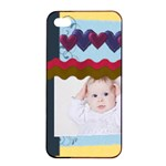 kids playing - Apple iPhone 4/4s Seamless Case (Black)
