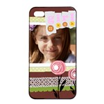 flower of kids - Apple iPhone 4/4s Seamless Case (Black)
