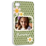 flower  - Apple iPhone 4/4s Seamless Case (White)