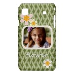 flower , kids, happy, fun, green - Samsung Galaxy S i9008 Hardshell Case