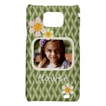 flower , kids, happy, fun, green - Samsung Galaxy S II i9100 Hardshell Case