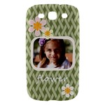 flower , kids, happy, fun, green - Samsung Galaxy S III Hardshell Case