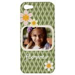 flower , kids, happy, fun, green - Apple iPhone 5 Hardshell Case