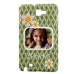 flower , kids, happy, fun, green - Samsung Galaxy Note Hardshell Case