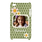 flower , kids, happy, fun, green - Apple iPod Touch 4G Hardshell Case