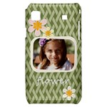 flower , kids, happy, fun, green - Samsung Galaxy S i9000 Hardshell Case