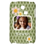 flower , kids, happy, fun, green - Samsung S3350 Hardshell Case