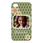 flower , kids, happy, fun, green - Apple iPhone 4/4S Premium Hardshell Case
