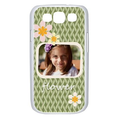 Flower , Kids, Happy, Fun, Green By Joely   Samsung Galaxy S Iii Case (white)   Kv896ywrqg5i   Www Artscow Com Front
