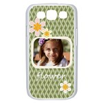 flower , kids, happy, fun, green - Samsung Galaxy S III Case (White)