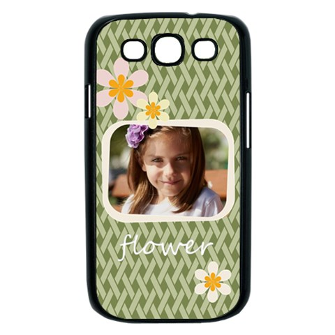 Flower , Kids, Happy, Fun, Green By Joely   Samsung Galaxy S Iii Case (black)   417qlh1p03f5   Www Artscow Com Front