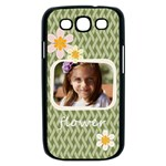 flower , kids, happy, fun, green - Samsung Galaxy S III Case (Black)