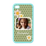 flower , kids, happy, fun, green - Apple iPhone 4 Case (Color)
