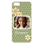 flower , kids, happy, fun, green - Apple iPhone 5 Seamless Case (White)