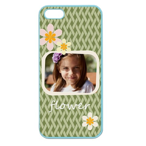 Flower , Kids, Happy, Fun, Green By Joely   Apple Seamless Iphone 5 Case (color)   O6it7oohro2j   Www Artscow Com Front