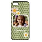flower , kids, happy, fun, green - Apple iPhone 5 Seamless Case (Black)