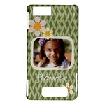 flower , kids, happy, fun, green - Motorola Droid X / X2 Hardshell Case
