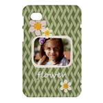 flower , kids, happy, fun, green - Samsung Galaxy Tab 7  P1000 Hardshell Case