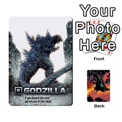 Gojira By Andrewzipp   Playing Cards 54 Designs   Rugflsf7djwv   Www Artscow Com Front - Club10