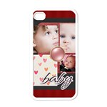 kids, happy, fun, play, family - Apple iPhone 4 Case (White)