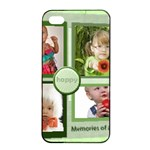 kids, happy, fun, play, family - Apple iPhone 4/4s Seamless Case (Black)