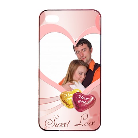 Love By Wood Johnson   Apple Iphone 4/4s Seamless Case (black)   Nn37g8oudfjk   Www Artscow Com Front