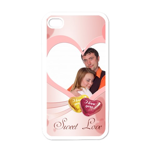 Love By Wood Johnson   Apple Iphone 4 Case (white)   Dddjyzi6n3sx   Www Artscow Com Front