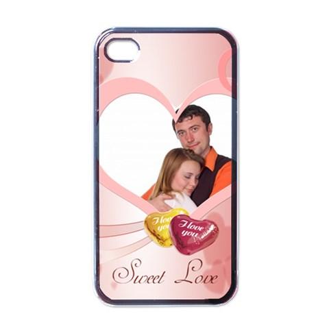 Love By Wood Johnson   Apple Iphone 4 Case (black)   Ztny981z250z   Www Artscow Com Front