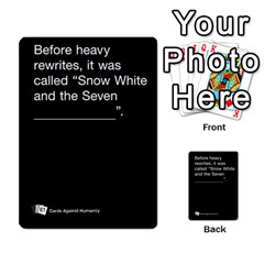 Cards Against Humanity E1 1 By Erik   Multi Purpose Cards (rectangle)   4ady8l0m54a8   Www Artscow Com Front 1