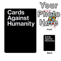 Cards Against Humanity E1 1 By Erik   Multi Purpose Cards (rectangle)   4ady8l0m54a8   Www Artscow Com Back 2