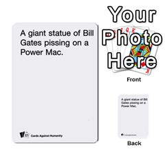 Cards Against Humanity E1 1 By Erik   Multi Purpose Cards (rectangle)   4ady8l0m54a8   Www Artscow Com Front 32