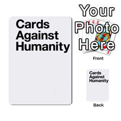 Cards Against Humanity E1 2 By Erik   Multi Purpose Cards (rectangle)   Z7dhs0hxdibl   Www Artscow Com Back 1