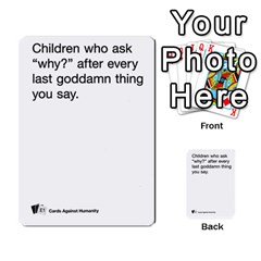 Cards Against Humanity E1 2 By Erik   Multi Purpose Cards (rectangle)   Z7dhs0hxdibl   Www Artscow Com Front 2
