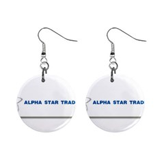 Alpha Star Mini Button Earrings