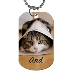 Maru And Such By Cassandra   Dog Tag (two Sides)   W6t5a3gb25si   Www Artscow Com Front