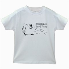 Dream Come True   Money White Kids'' T Shirt by uTees