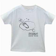 Dream Come True   Space Kids White T Shirt by uTees