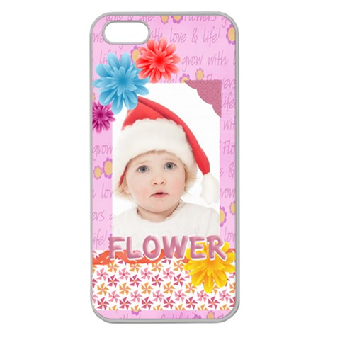 Flower, Kids , Happy By Betty   Apple Seamless Iphone 5 Case (clear)   Aqmm2054546m   Www Artscow Com Front