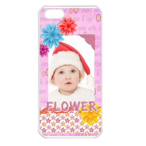 Flower, Kids , Happy By Betty   Apple Iphone 5 Seamless Case (white)   1ai65xekxg4q   Www Artscow Com Front
