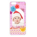 flower, kids , happy - Apple iPhone 5 Seamless Case (White)