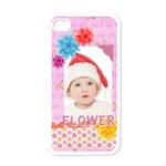 flower, kids , happy - Apple iPhone 4 Case (White)
