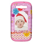 flower, kids , happy - Samsung Galaxy S III Hardshell Case (PC+Silicone)
