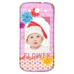 flower, kids , happy - Samsung Galaxy S3 S III Classic Hardshell Back Case