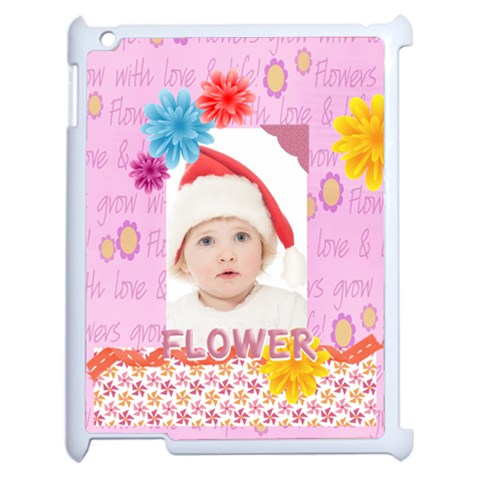 Flower, Kids , Happy By Betty   Apple Ipad 2 Case (white)   1tj8hp8k4w17   Www Artscow Com Front
